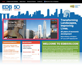 EDB 50th anniversary exhibition website