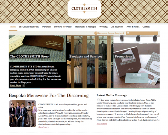 CLOTHESMITH Web Design and WordPress Theming