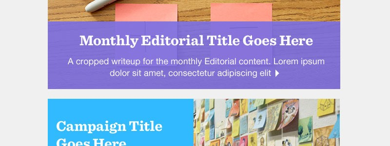 Post-it Responsive eNewsletter