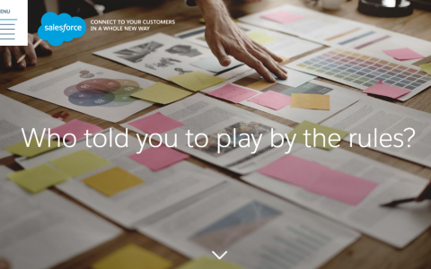 Salesforce ANZ Brand Campaign Microsite Build and Project Management